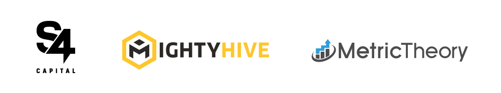S4Capital, MightyHive, and Metric Theory Logo