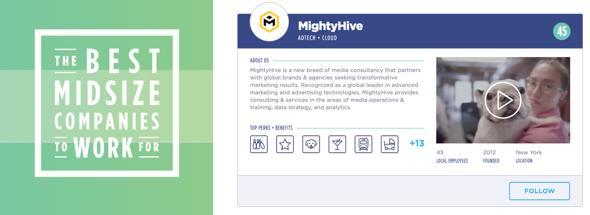 mightyhive named to best midsize company to work for ranking image
