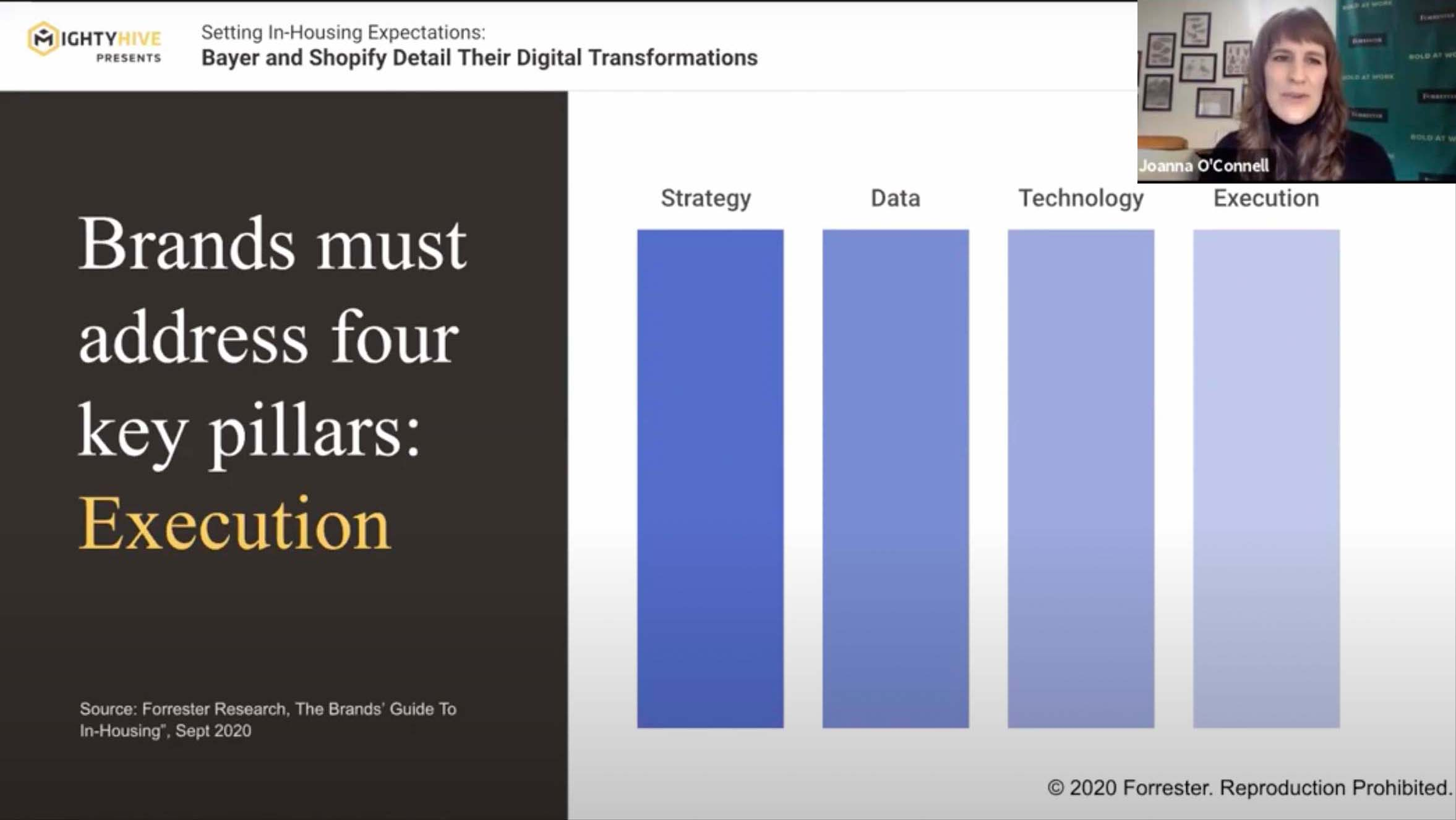 Joanna O'Connell explains the four key pillars of digital transformation