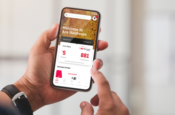Ace Hardware Loyalty App on a Phone